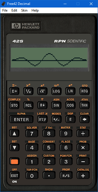 Free42 : An HP-42S Calculator Simulator